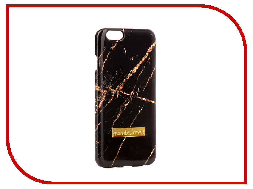 Аксессуар Чехол Mamba Case Black-Gold APPLE iPhone 7 Plus / 8 Plus аксессуар чехол apple iphone 7 8 plus leather case taupe mqhj2zm a