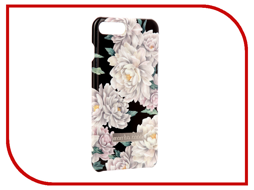 Аксессуар Чехол Mamba Case Peonies APPLE iPhone 7 Plus / 8 Plus смартфон apple iphone 7 plus 32gb black mnqm2ru a