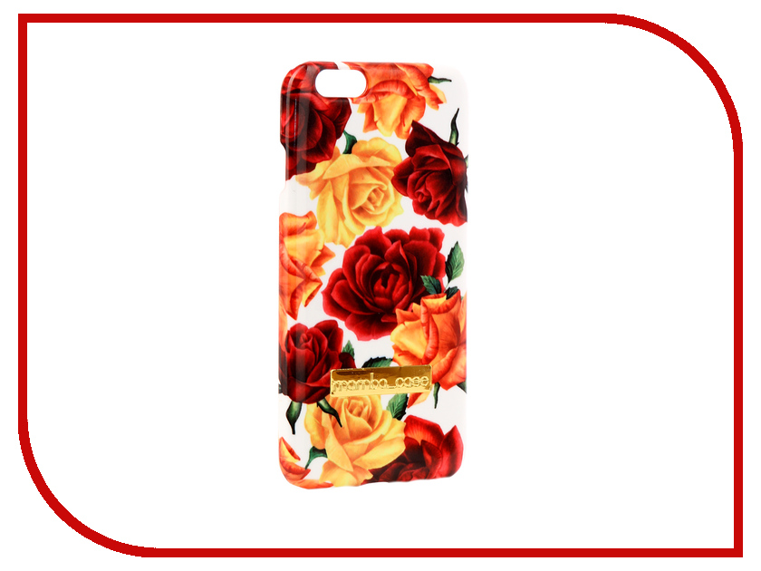 Аксессуар Чехол Mamba Case Roses APPLE iPhone 6 / 6S чехол apple leather case для iphone 6 6s plus