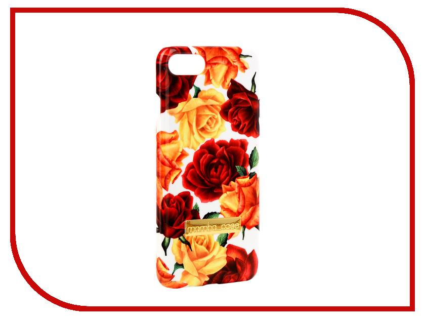 Аксессуар Чехол Mamba Case Roses APPLE iPhone 7 / 8 аксессуар чехол innovation jeans для apple iphone 7 8 white 10774