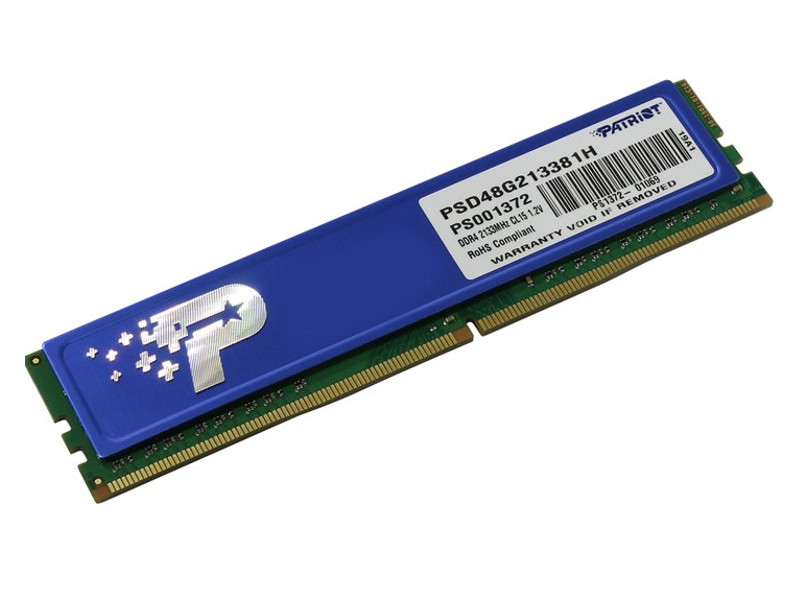 Модуль памяти Patriot Memory DDR4 DIMM 2133Mhz PC4-17000 CL15 - 8Gb PSD48G213381H