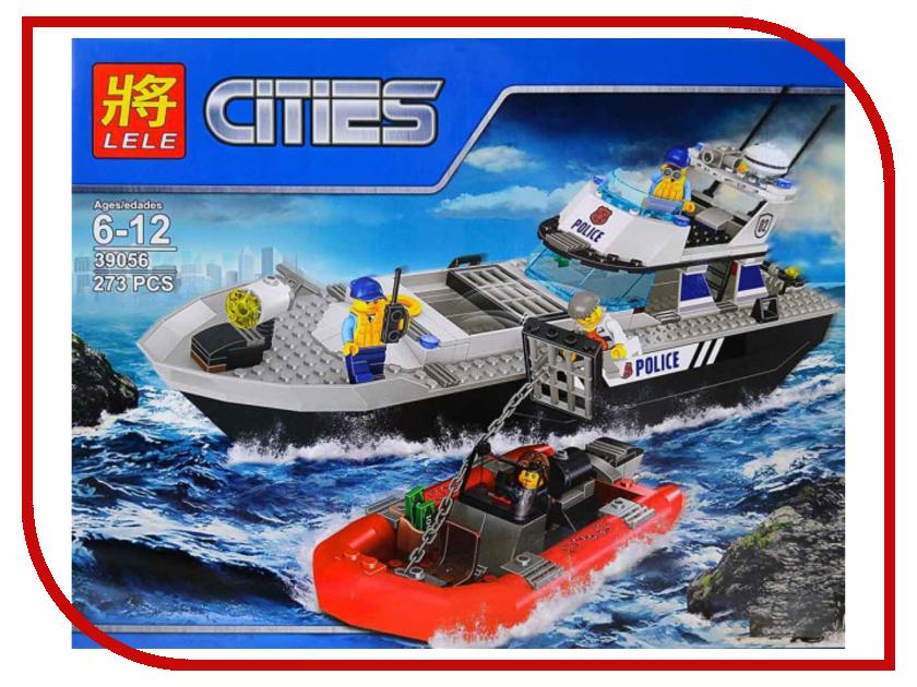 Конструктор Lele Cities Полицейский патрульный катер 273 дет. 39056 конструктор lepin cities рыболовный катер 159 дет 02028