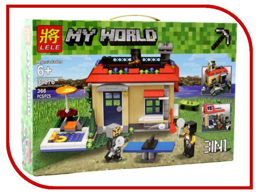 Конструктор Lele My World Отдых на природе 3 в 1 366 дет. 33076 конструктор lele my world на рыбалке 375 дет 33095