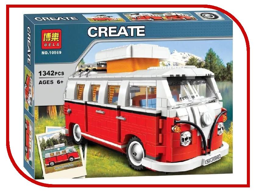 Конструктор Bela Creator Автобус Volkswagen T1 1342 дет. 10569 lepin 21001 creator series the volkswagen t1 camper van model building blocks classic compatible legoed 10220 technic car toys