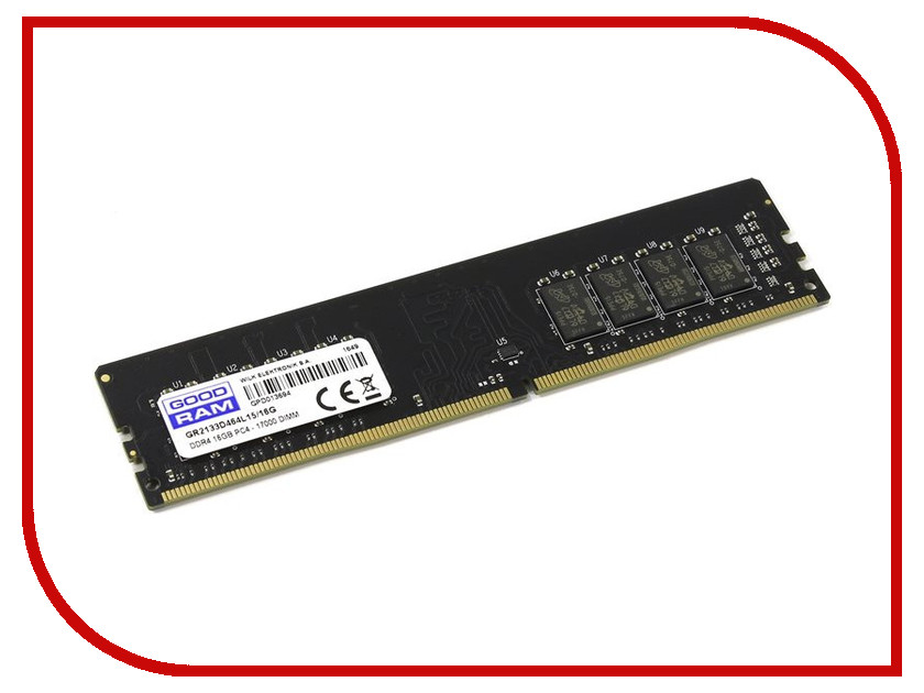 Модуль памяти GoodRAM DDR4 DIMM 2133MHz PC4-17000 CL15 - 16Gb GR2133D464L15/16G