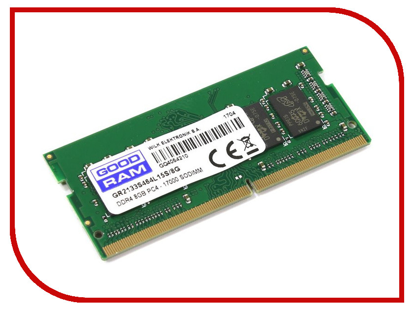 Модуль памяти GoodRAM DDR4 SO-DIMM 2133MHz PC4-17000 CL15 - 8Gb GR2133S464L15S/8G