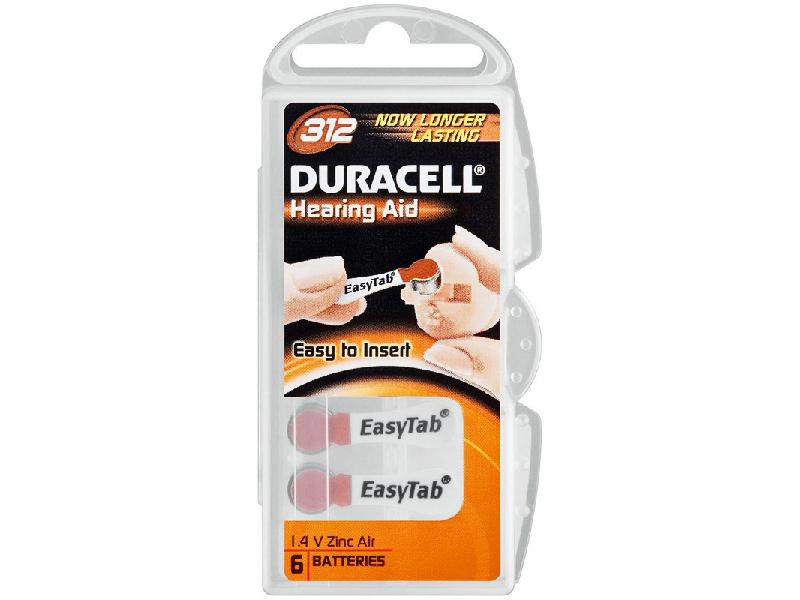 Батарейки Duracell ActiveAir Nugget Box ZA312 DA312/6BL
