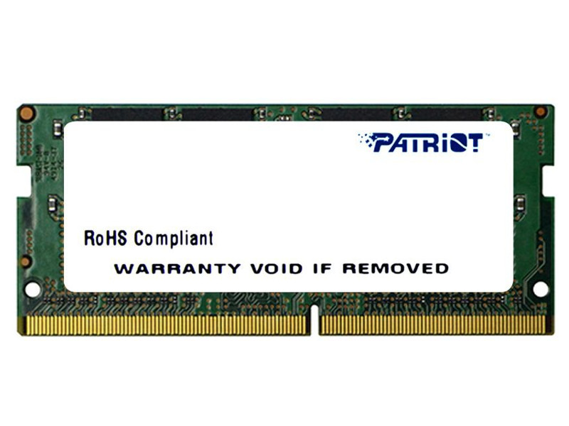 Модуль памяти Patriot Memory DDR4 SO-DIMM 2400MHz PC4-19200 CL17 - 16Gb PSD416G24002S