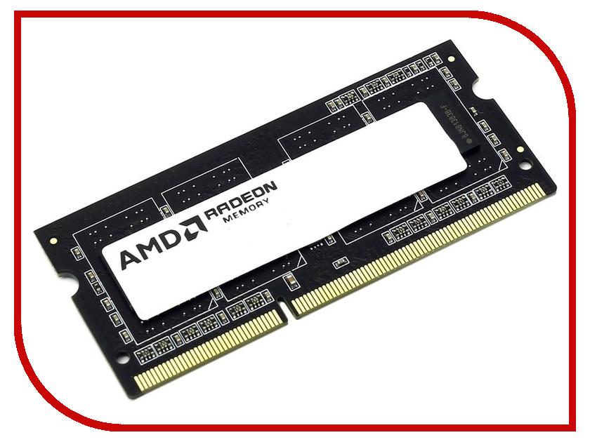 Купить Модуль памяти AMD DDR3 SO-DIMM 1600MHz PC3-12800 CL11 - 4Gb R534G1601S1S-U