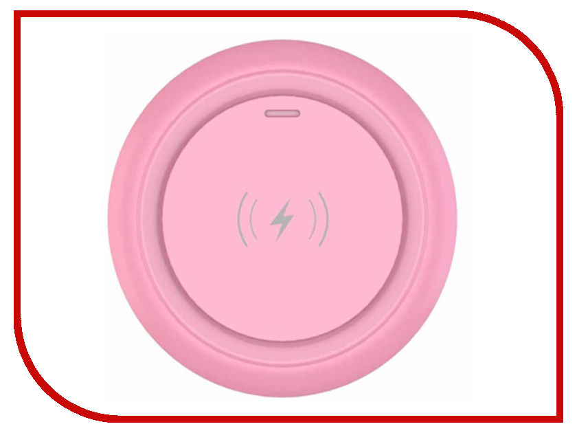 Зарядное устройство Devia Allen Wireless Ultra Thin Charger Pink mini ultra thin 78 keys 2000dpi wireless keyboard