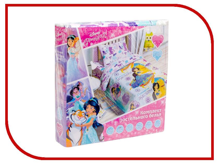 Постельное белье Disney Принцесса Жасмин Комплект 1.5 спальный Бязь 1343383 disney картонка принцесса и лягушка