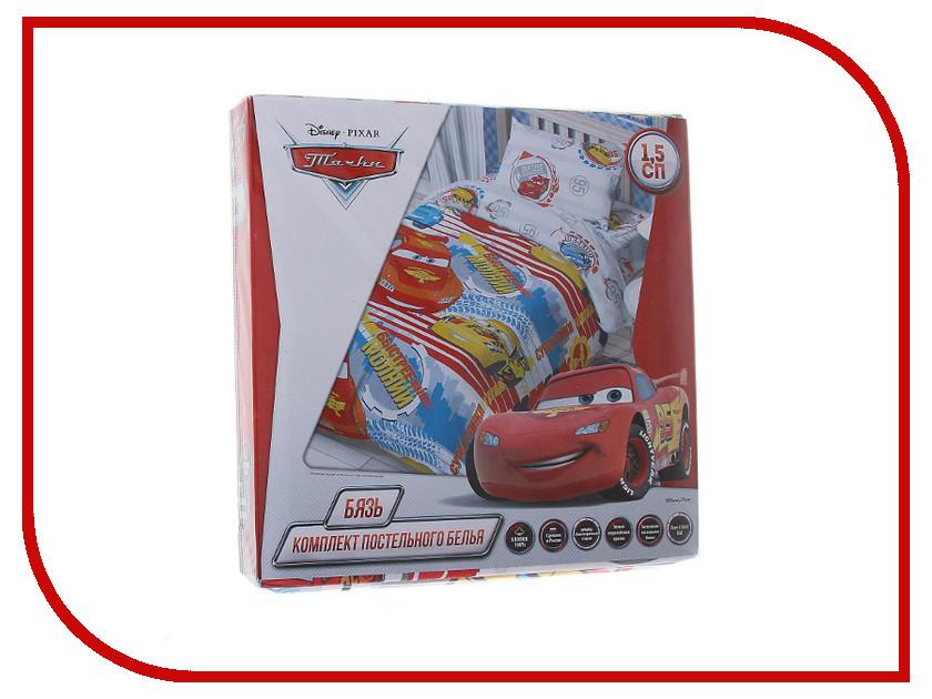 Постельное белье Disney Тачки: Супер гонки Комплект 1.5 спальный Бязь 1317320 постельное белье непоседа ушастики кдн 1 8898 комплект 1 5 спальный бязь