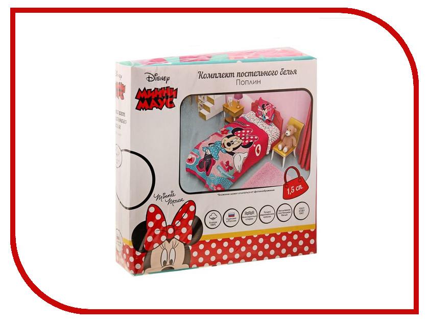 Постельное белье Disney Минни Маус Комплект 1.5 спальный Поплин 1149314 disney гирлянда детская с днем рождения минни маус