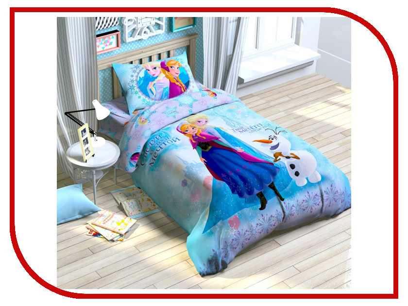 Постельное белье Disney Холодное сердце Комплект 1.5 спальный Поплин 1149316 т58465 disney холодное сердце