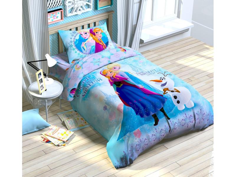 цена Постельное белье Disney Холодное сердце Комплект 1.5 спальный Поплин 1149316 онлайн в 2017 году