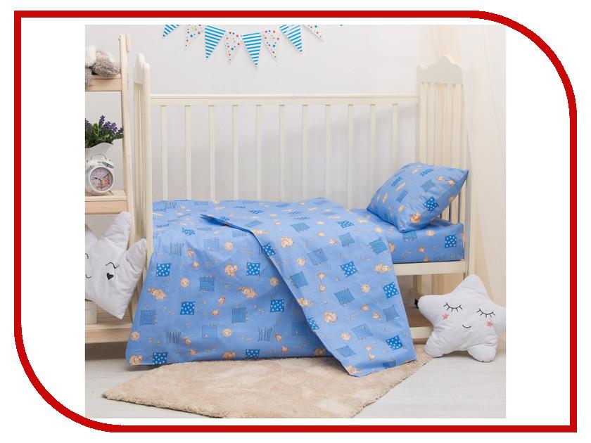 Постельное белье Адель Жирафики Комплект Детский Бязь Blue 2857467 постельное белье адель постельное белье сокровище персии 2сп