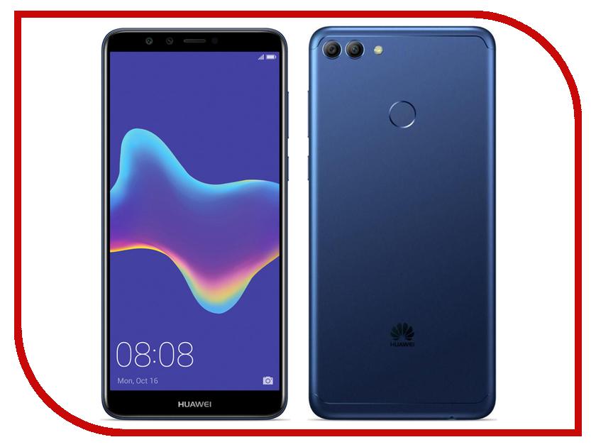 Сотовый телефон Huawei Y9 2018 Blue shs красный huawei y9 2018