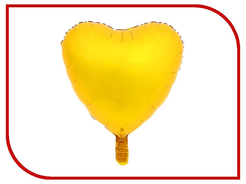 Шар фольгированный СИМА-ЛЕНД Сердце 18 Gold 2796438