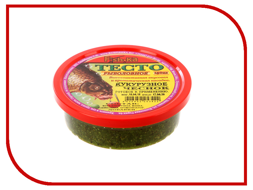 Приманка Fish.ka Тесто кукурузное Чеснок 150ml