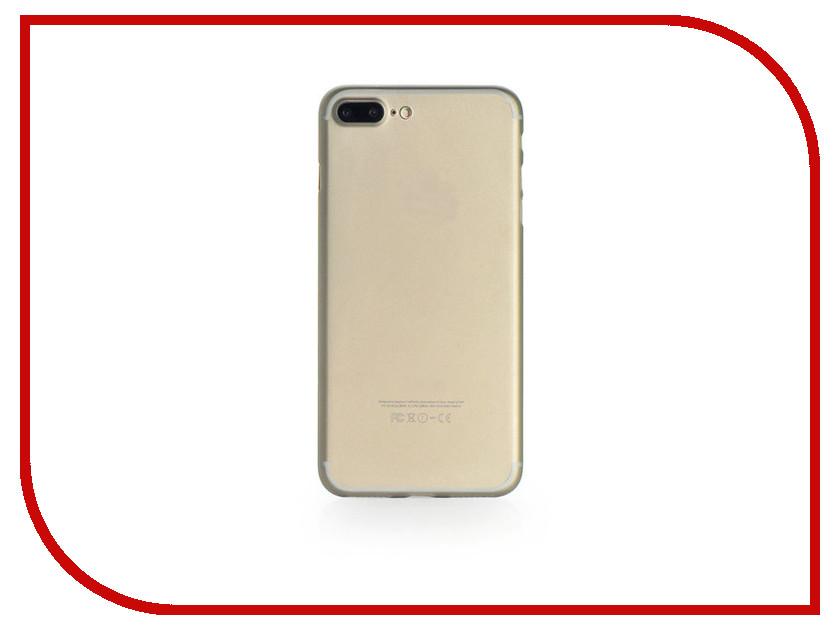 Аксессуар Чехол Gurdini Ultrathin 0.2mm для APPLE iPhone 7 Plus Grey аксессуар чехол бампер burkley snap on для apple iphone 7 plus black bmcujblrst1i7p