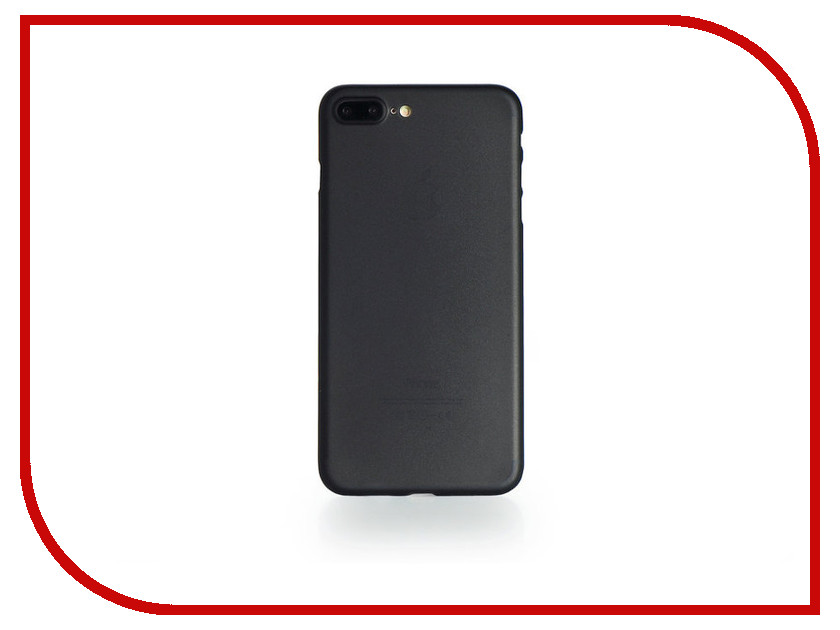 Аксессуар Чехол Gurdini Ultrathin 0.2mm для APPLE iPhone 7 Plus Black аксессуар чехол бампер burkley snap on для apple iphone 7 plus black bmcujblrst1i7p