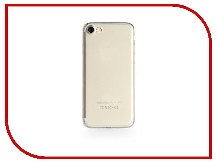 Аксессуар Чехол Gurdini Ultrathin Silicone для APPLE iPhone 7 Transparent 900502 аксессуар чехол ipapai ассорти сладости для apple iphone 7 120120 7