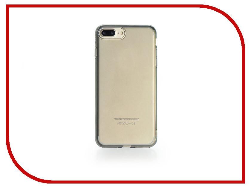 Аксессуар Чехол Gurdini Dense Silicone 0.4mm для APPLE iPhone 7 Plus Transparent-Black аксессуар чехол бампер burkley snap on для apple iphone 7 plus black bmcujblrst1i7p