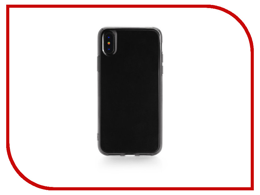 Аксессуар Чехол Gurdini Dense Silicone для APPLE iPhone X 5.8 Transparent-Black аксессуар чехол with love moscow silicone для apple iphone x rainbow 5046