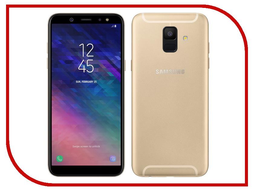Сотовый телефон Samsung SM-A600F Galaxy A6 2018 Gold сотовый телефон samsung sm j510f ds galaxy j5 2016 gold