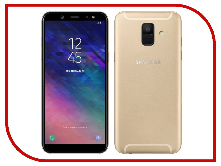 Сотовый телефон Samsung SM-A600F Galaxy A6 2018 Gold