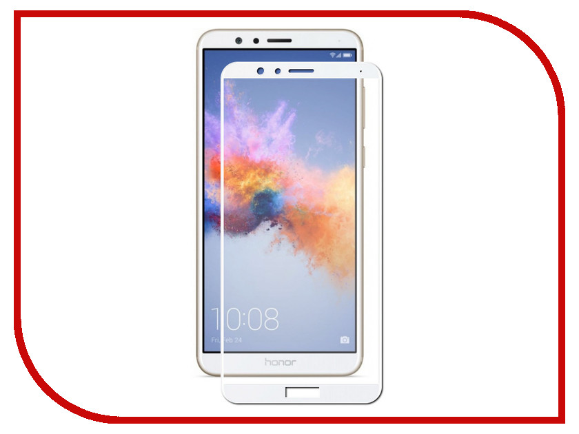 Аксессуар Защитное стекло Huawei Honor 7X Gecko 2D FullScreen White ZS26-GHH7x-2D-WH аксессуар защитное стекло sony xa1 gecko full screen 0 26mm 2d black zs26 gsonyxa1 2d bl