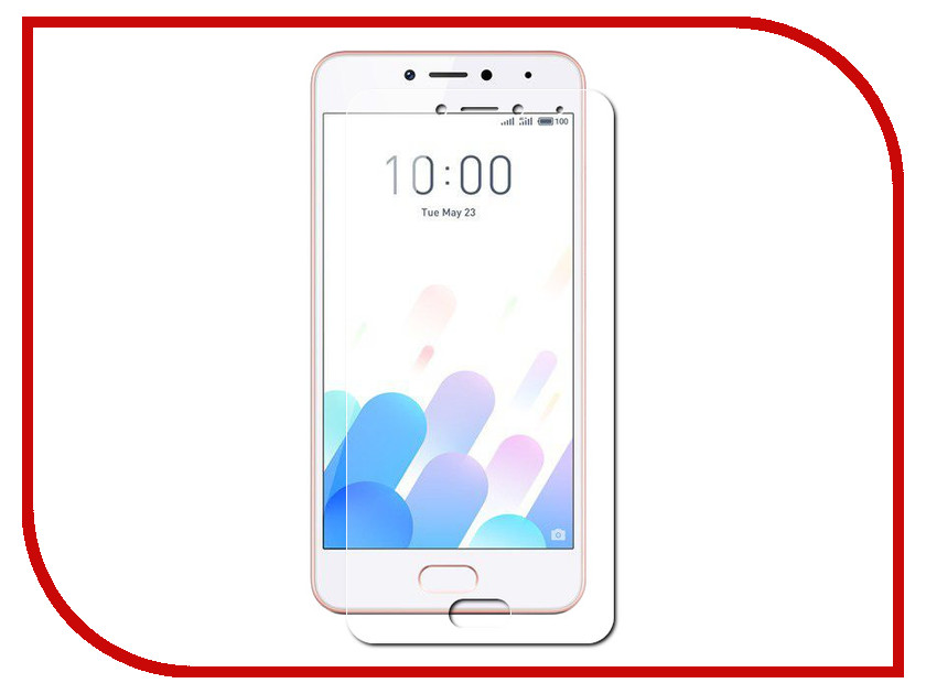 Аксессуар Защитное стекло Meizu M5c (5) Red Line Tempered Glass small holes style protective pe back case for htc one x s720e purple