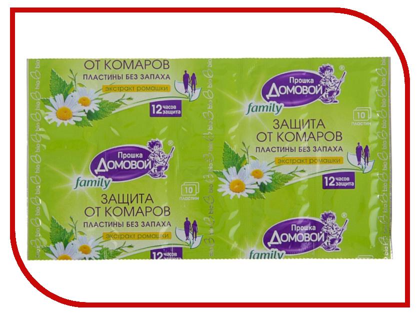 Средство защиты от комаров Домовой Прошка Л105 - пластины Био Family