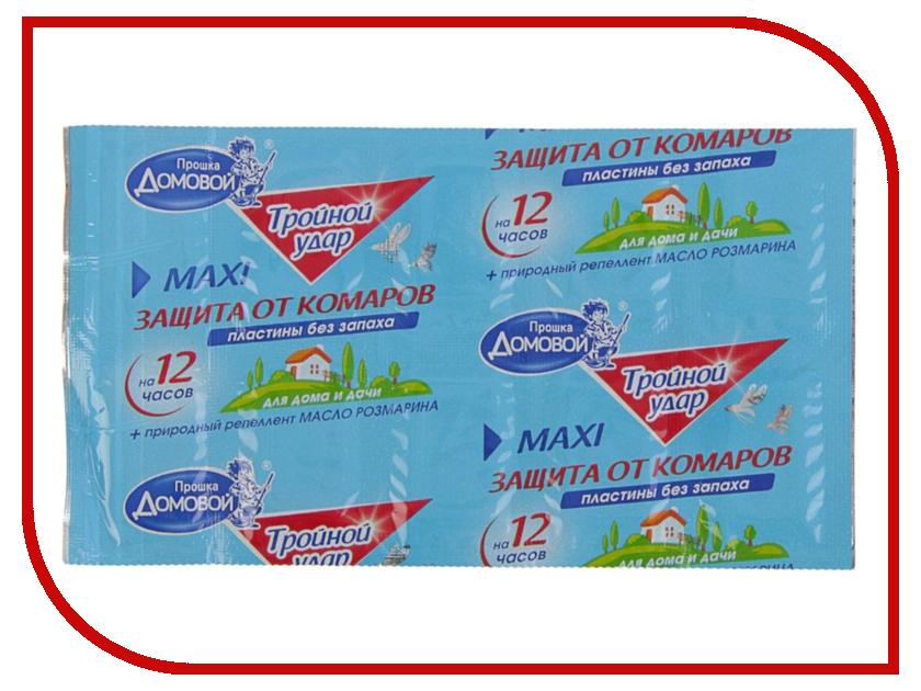 Средство защиты от комаров Домовой Прошка Л106 - пластины Тройной Удар