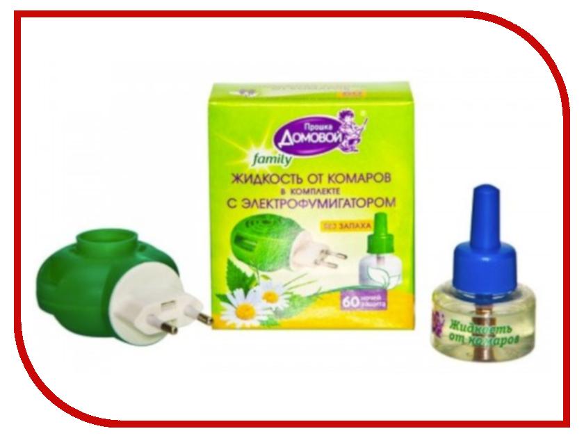 Средство защиты от комаров Домовой Прошка Л099 - комплект жидкость Био Family 60 ночей + фумигатор