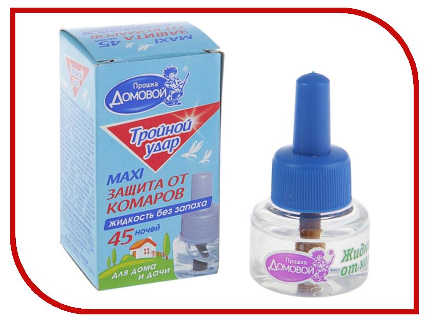 Средство защиты от комаров Домовой Прошка Л063 - жидкостной наполнитель Тройной Удар 45 ночей