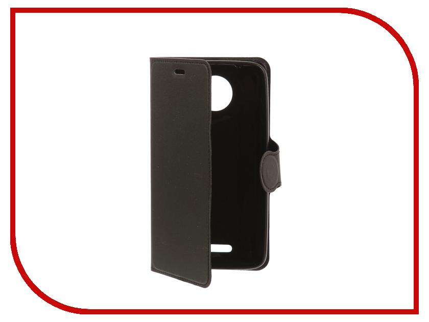 Аксессуар Чехол-книжка для Motorola Moto C Red Line Book Type Black чехол mediagadget для motorola moto c transparent