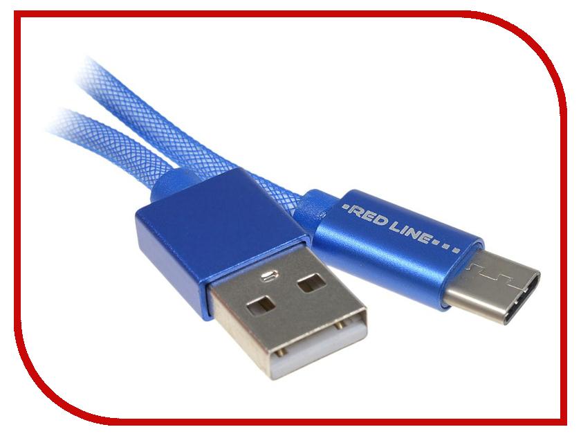 Аксессуар Red Line USB - Type-C Fishnet Blue