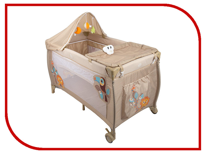 Манеж-кровать Capella S10-6 Beige манеж кровать capella sweet time owl b s yellow beige