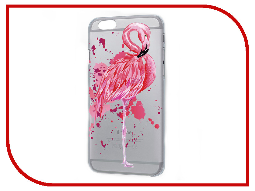 Аксессуар Чехол iPapai Животные Фламинго Silicone для APPLE iPhone 7 Plus 120177_7+ аксессуар чехол ipapai флора тропики для apple iphone 7 120508 7