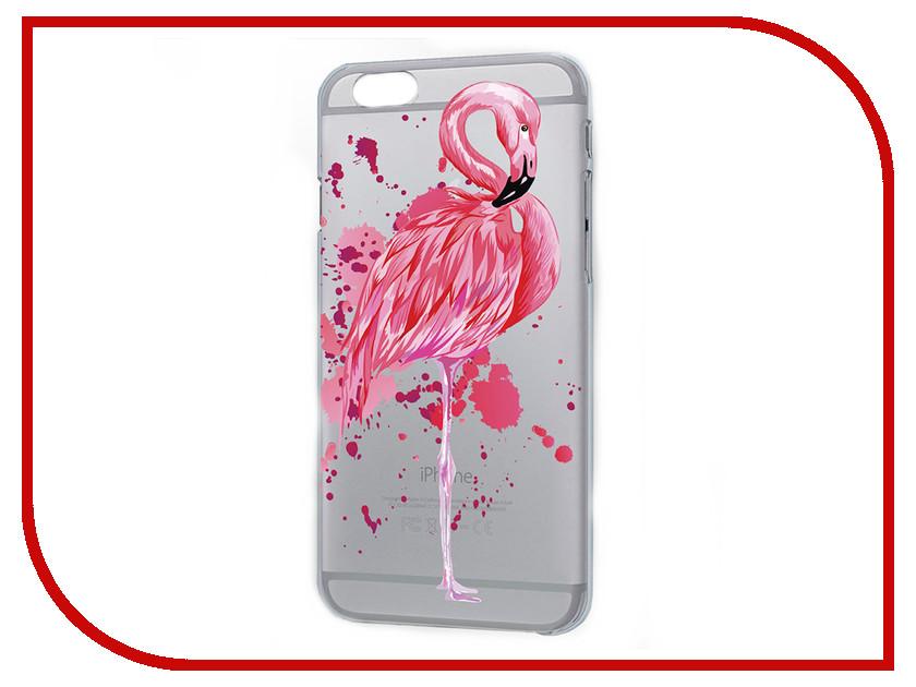 Аксессуар Чехол iPapai Животные Фламинго Silicone для APPLE iPhone 5/5S 120177_5 аксессуар чехол ipapai ассорти сладости silicone для apple iphone 7 120120 7