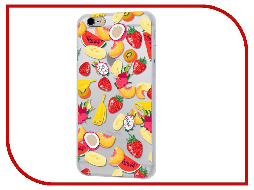 Аксессуар Чехол iPapai Ассорти Фрукты Silicone для APPLE iPhone 7 Plus 120506_7+ аксессуар чехол ipapai животные фламинго для apple iphone 7 120177 7