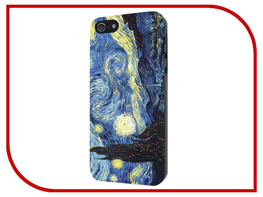 Аксессуар Чехол iPapai Картины Ван Гог Звездная ночь Silicone для APPLE iPhone 5 120043_5