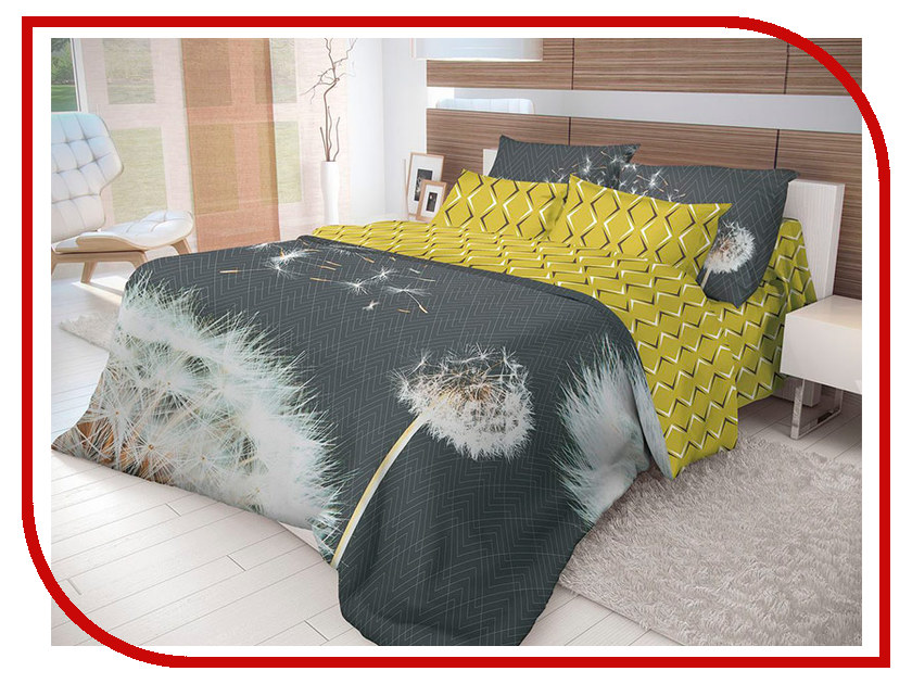 Постельное белье Волшебная Ночь Лофт Dandelion Комплект 1.5 спальный Ранфорс 702173 цена 2017