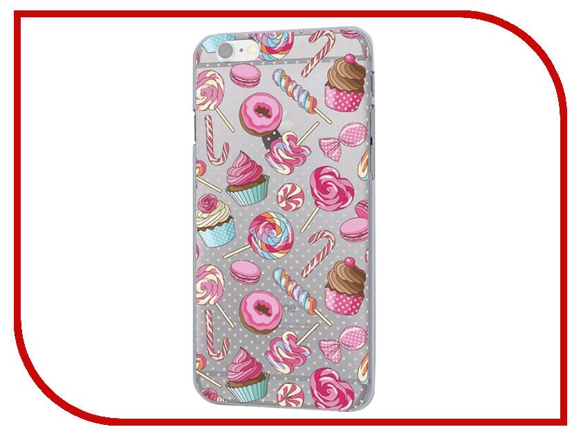 Аксессуар Чехол iPapai Ассорти Сладости Silicone для APPLE iPhone 7 120120_7 аксессуар чехол ipapai животные фламинго для apple iphone 7 120177 7