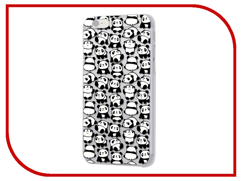 Аксессуар Чехол iPapai Ассорти Панды для APPLE iPhone 7 Plus 120503_7+ аксессуар чехол ipapai флора тропики для apple iphone 7 120508 7