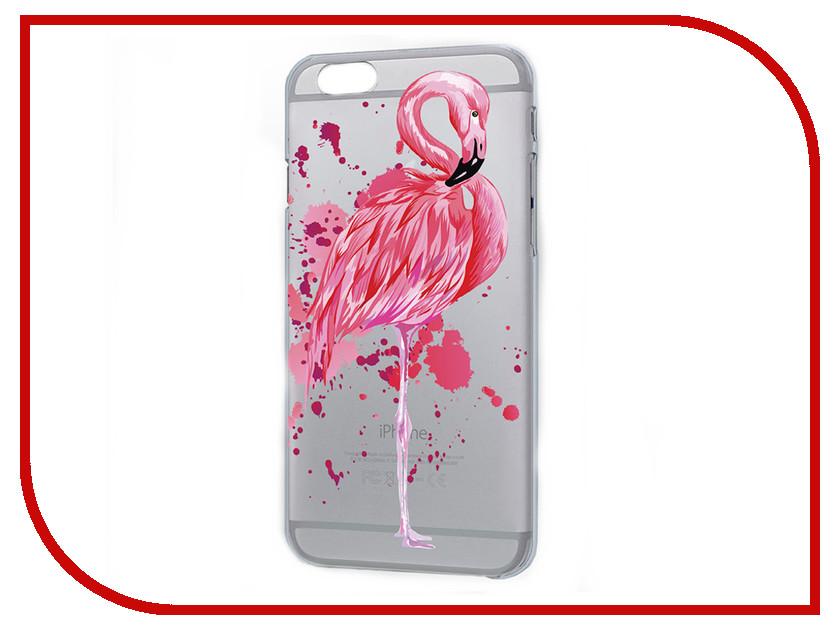 Аксессуар Чехол iPapai Животные Фламинго для APPLE iPhone 7 Plus 120177_7+ аксессуар чехол ipapai ассорти сладости silicone для apple iphone 7 120120 7