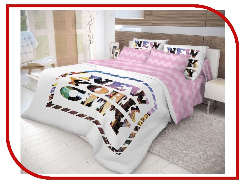 Постельное белье Волшебная Ночь Лофт New York Комплект 1.5 спальный Ранфорс 702180 постельное белье волшебная ночь комплект постельного белья волшебная ночь семейный new york