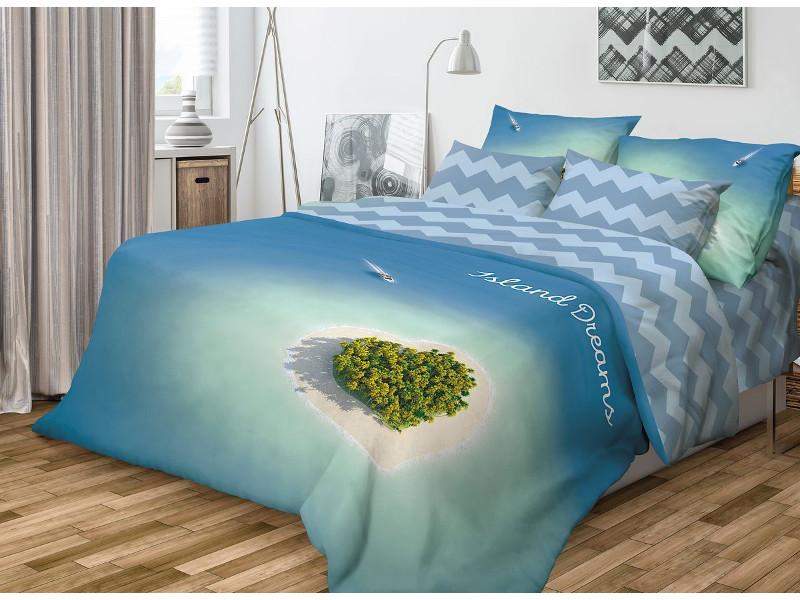 Постельное белье Волшебная Ночь Фьюжн Island Dreams Комплект 1.5 спальный Ранфорс 701988