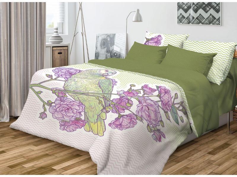 Постельное белье Волшебная Ночь Фьюжн Parrot Комплект 1.5 спальный Ранфорс 704329